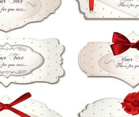 Love Cards Set vector