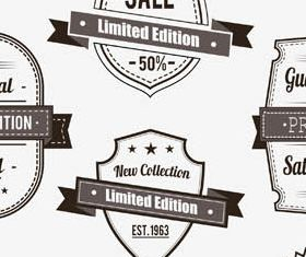 Black Shopping Labels Set vector