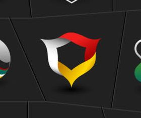Abstract Various Color Logo vector