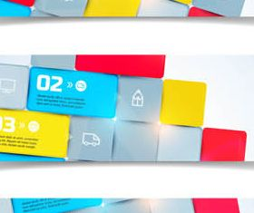 Abstract Banners 2 vector