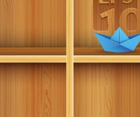 solid wood bookshelves 2 vector