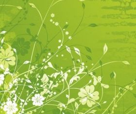 Floral Green vector set