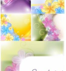 beautiful flowers background vectors graphic
