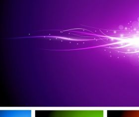abstract lights colorful background vector