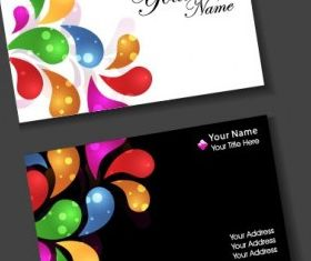 colorful card design 10 vector set