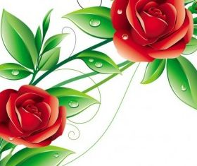 beautiful flowers 02 vector graphic