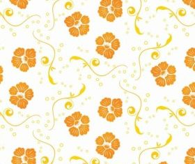 Ornamental Floral Pattern Free Vector vectors material