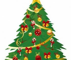 Christmas Tree Illustration 3 vector graphics