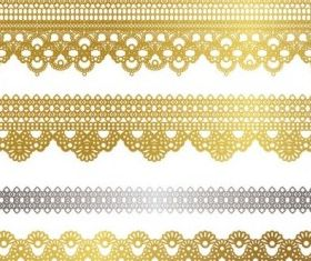 gold lace pattern 02 vectors graphic