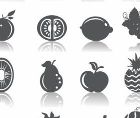Fruits Icons free vector