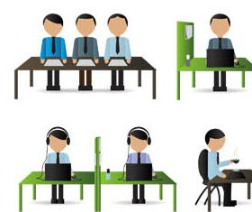 Working People Set 4 vector
