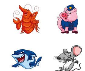 Funny Various Animals vector