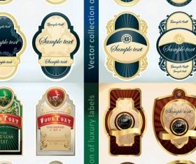 classic bottle label stickers vector