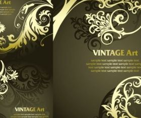 golden european classical pattern shiny vector
