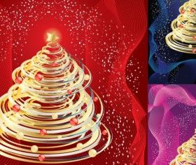 Abstract Christmas Tree vectors material