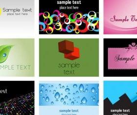 beautiful card template vectors material