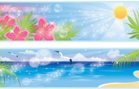 beautiful coastal scenery 03 vector