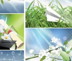 nature light and plant vector