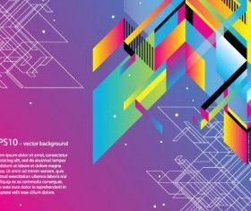 fashion color block background vector