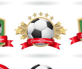 Creative Football Labels vector