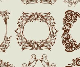 Decorative Vintage Frames 20 vector material