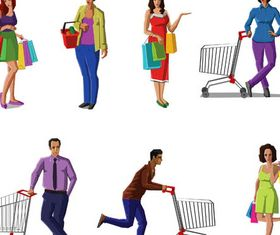 Shopping Set 2 vector