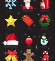 Christmas Ornaments Set vector