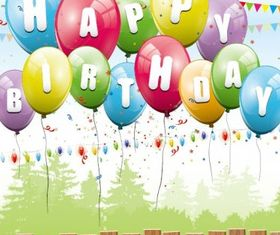 balloon card 02 vector