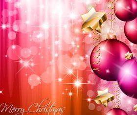 Shiny Christmas Backgrounds Set vector material