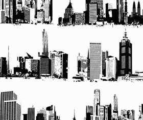 Grunge Cityscapes art vectors