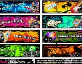 beautiful pattern banner 03 vector graphic