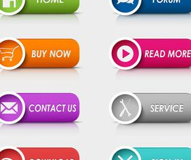 Stylish Web Buttons vector set