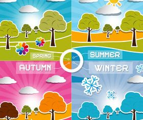 Four Seasons Set vector