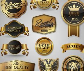 Luxury Golden Labels vectors graphic