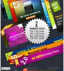 color labels and banner vector