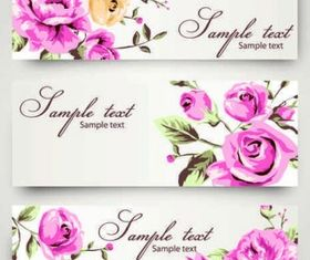 Romantic Rose pattern background vector design