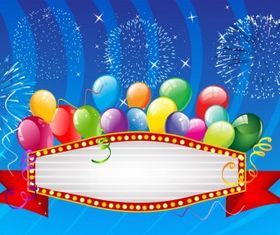 Balloons banner graphic vectors