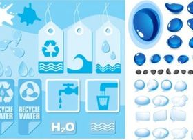 water theme vector material