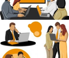 cartoon business people design vectors