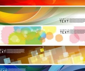 dynamic banners 02 design vectors