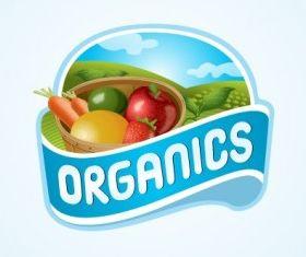 Organics Logo set vector
