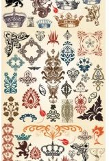 european classic pattern totem design vectors