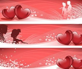love banner vector graphic