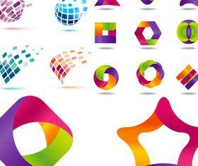 Shiny Geometric Logo art Illustration vector