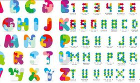 Shiny Alphabets Set vectors
