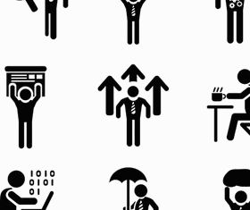 Businessman Icons 6 vector