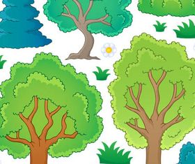 Cartoon Trees graphic vector