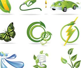 Eco environmental logos vectors