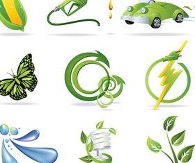Eco environmental logos vectors