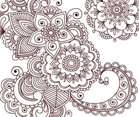 Floral ornament vector